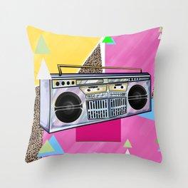 Jammin BoomBox 90's Flava Throw Pillow