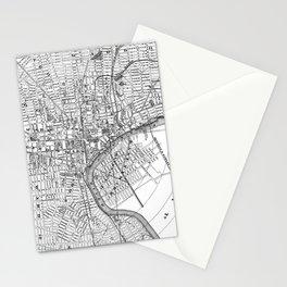 Vintage Map of Newark NJ (1872) BW Stationery Cards