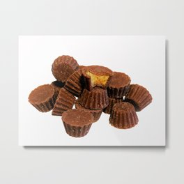 Mini Chocolate and Peanut Butter Treats Metal Print