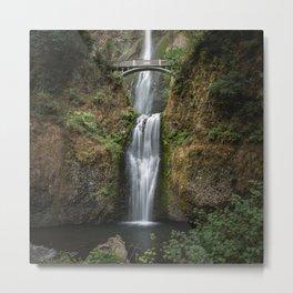 Iconic Multnomah Falls in the Columbia River Gorge of Oregon Metal Print