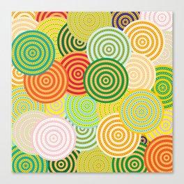 Concentric Cirlcles Canvas Print
