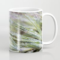 weed Mugs featuring dewy weed by Bonnie Jakobsen-Martin