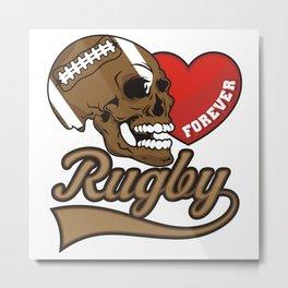 RUGBY Metal Print