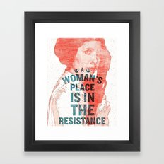 LEIA RESISTANCE Framed Art Print