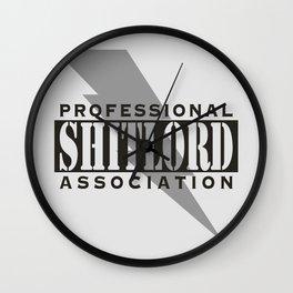 Professional Shitlord Association Wall Clock