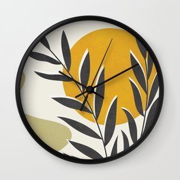 Plant Design 01 Wall Clock