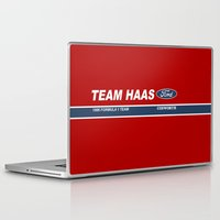 danny haas Laptop & iPad Skins featuring Haas F1 Team 1986 by Krakenspirit