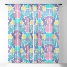 Mosaic Pastels Sheer Curtain