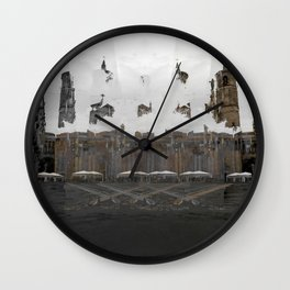Creases interspersed with adjacent disconnections. [A] Wall Clock