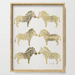 Golden Zebras Serving Tray