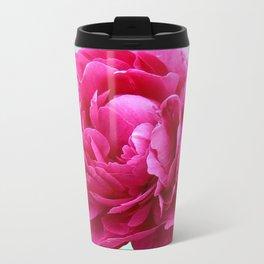 Pink peony Metal Travel Mug
