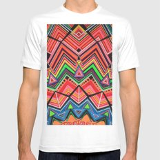 Summer Colors Mens Fitted Tee MEDIUM White