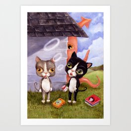 Busted! Art Print