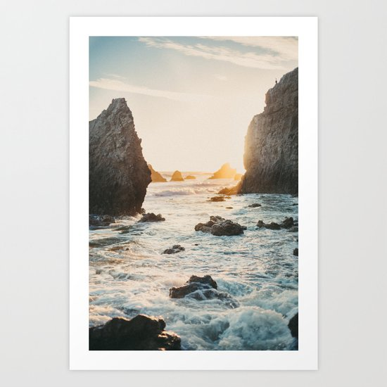 Sunset at El Matador Art Print