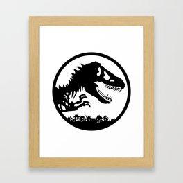 T-Rex Dino Skull Bone Jurasic Framed Art Print