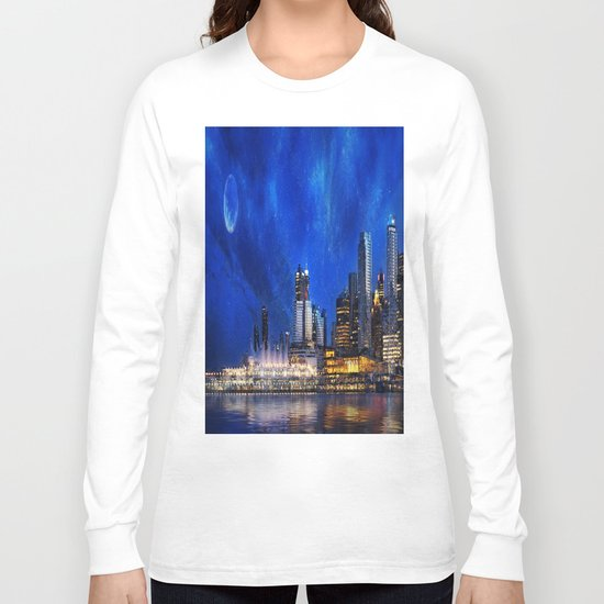 Canada At Night Long Sleeve T-shirt