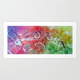 Abstract Monotype Art Print