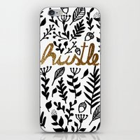 hustle iPhone & iPod Skins featuring Hustle by wildpink
