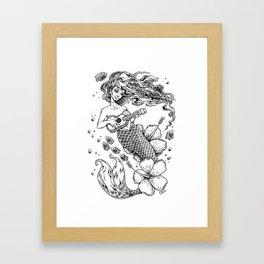 Ukulele Mermaid Framed Art Print