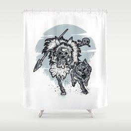 The wolf princess warrior Shower Curtain