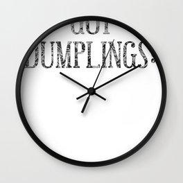 dumplings Wall Clock