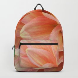 Peach and Pink Dahlia Backpack