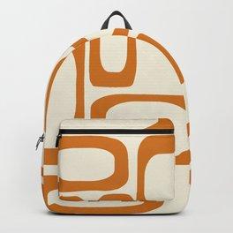 Mid Century Modern Shapes 1970s Orange #society6 #buyart  Backpack