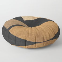 Geometric Harmony Black 03 - Minimal Abstract Floor Pillow