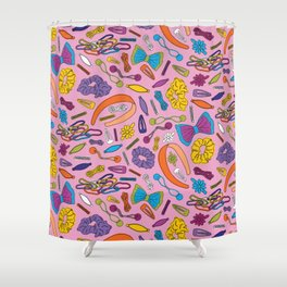 Hair Accessories of my Youth - Pink Shower Curtain