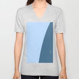 Blue Wave #skyblue #home #kirovair #decor #buyart #minimal #bluedecor Unisex V-Neck