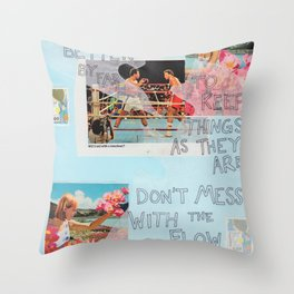 stick to the status quo Throw Pillow