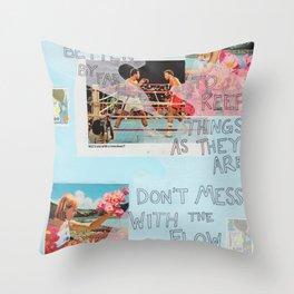 stick to the status quo Throw Pillow