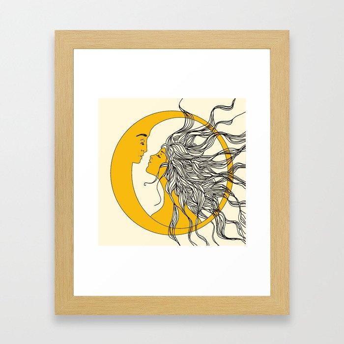 Sun and Moon Gerahmter Kunstdruck