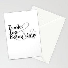 Books & Tea & Rainy Days Stationery Cards