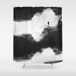 Hello from the The Upside Down World Shower Curtain