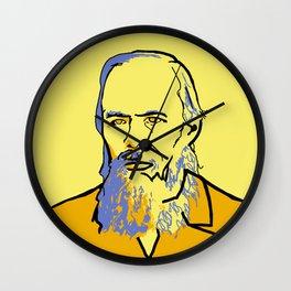 Fyodor Dostoyevsky Wall Clock