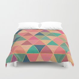 Colorful diamonds print, stone effect Duvet Cover