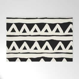 Tribal Chevron Stripes Welcome Mat