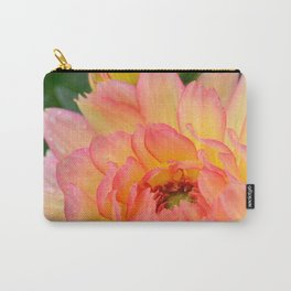 """""""Coral Tipped"""" Dahlia by Teresa Thompson Carry-All Pouch"""