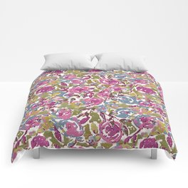 Painted Abstract Florals Comforters