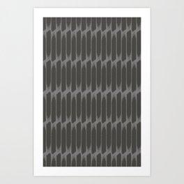 Brush dark gey Art Print