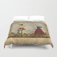 shakespeare Duvet Covers featuring Mixed Media Shakespeare  by Artist Gaya