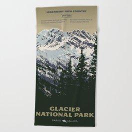 Glacier National Park Beach Towel