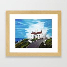 Battery point Lighthouse ( Crescent City, CA ) Framed Art Print