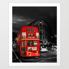 Red Routemaster London Bus Art Print