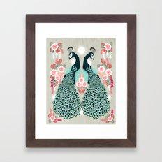 Peacocks by Andrea Lauren  Framed Art Print