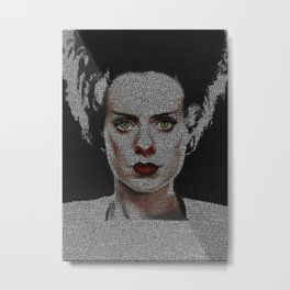 The Bride of Frankenstein Screenplay Print Metal Print