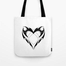 Shadowhunters rune silhouette and tribal heart - Parabatai - Malec Tote Bag