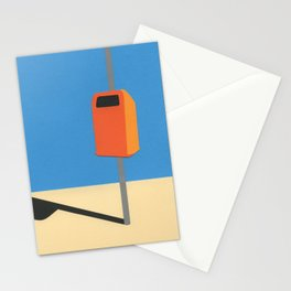 Orange Trash Can Stationery Cards