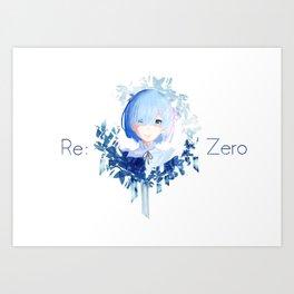 Rem Best Girl Art Print